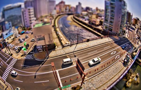 Picture road, machine, city, the city, creative, home, bridges, street, photos, roads, bridges, creative