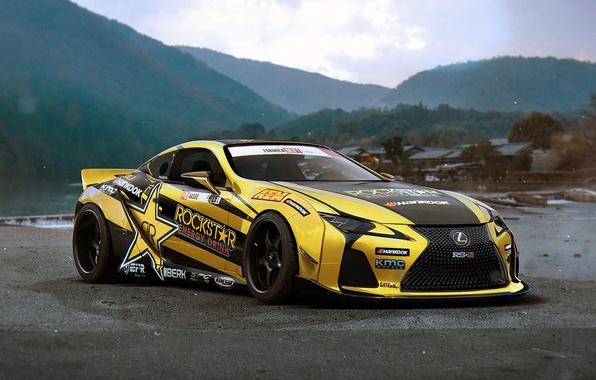 Picture Lexus, Rockstar, Tuning, Future, Energy, Drink, by Khyzyl Saleem, LC 500