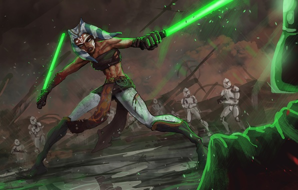 Wallpaper Star Wars Star Wars The Jedi Darth Vader Clones Ahsoka Tano Images For Desktop Section Fantastika Download