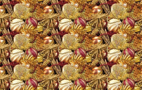 Picture balls, background, holiday, texture, New year, beads, tinsel, Christmas balls