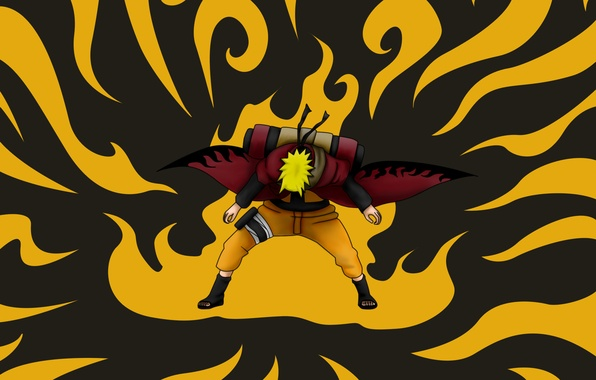 Picture guy, Naruto, Naruto, art, scroll, Uzumaki naruto, nelsonaof, sage mode, natural energy