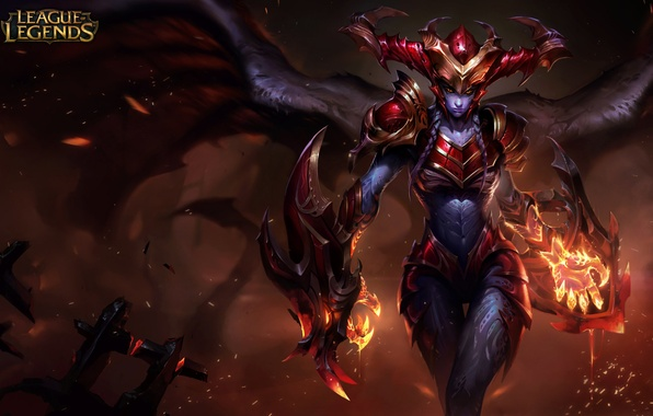 Picture flame, magic, sparks, League of Legends, Shyvana, Lol