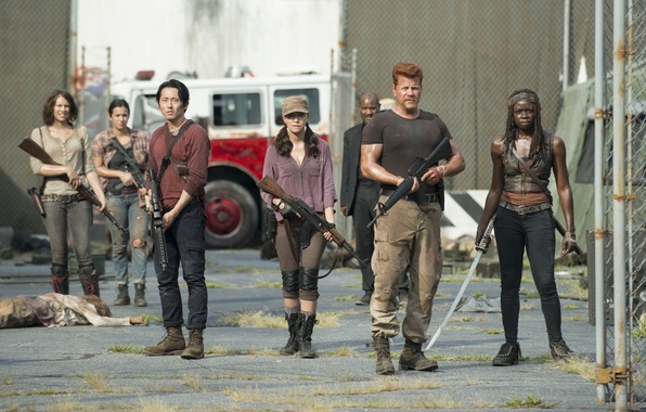 Picture group, team, The Walking Dead, The walking dead