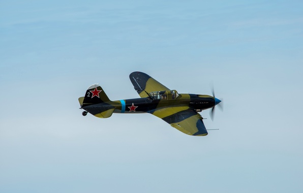 Picture the sky, attack, the plane, Soviet, WWII, Il-2M