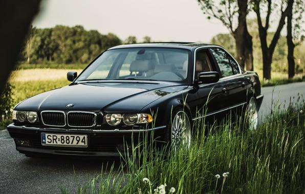 Picture Black, BMW, Boomer, Classic, BMW, E38, Bimmer, 740i