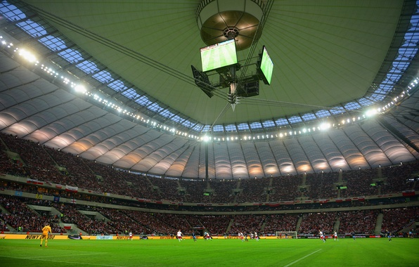 Photo wallpaper Sport, Poland, Warsaw, Football, Football, National Stadium, National stadium