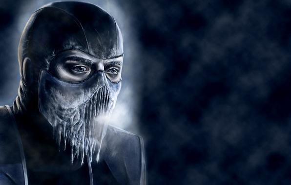 Picture cold, ice, blue, mortal kombat, Sub-Zero, Sub-Zero