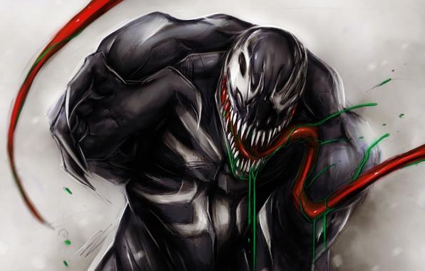 Picture language, art, mouth, Marvel Comics, Venom, Symbiote, Carnage, Cletus Kasady