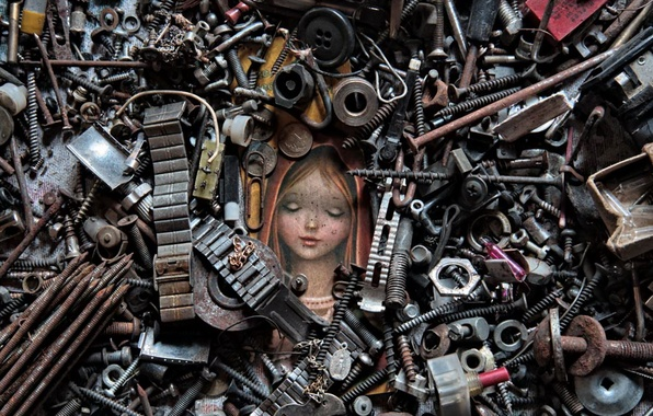 Picture nails, screws, nuts