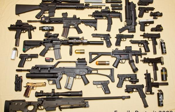 Picture gun, sniper rifle, glock, Beretta, awp, the gun, G36, MP-5, MP-7, M-10, M-92