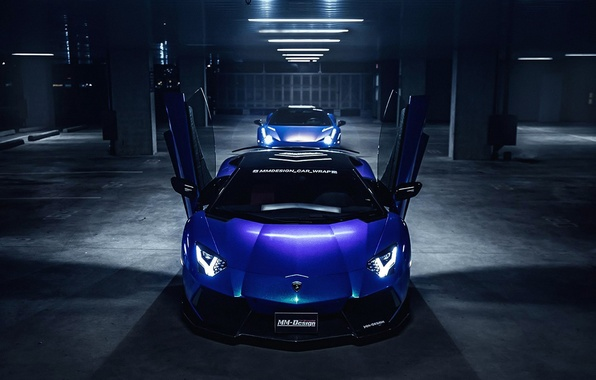 Picture Lamborghini, Car, Purple, Front, LP700-4, Aventador, Wrap, MM-Design