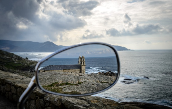 Picture water, landscape, reflection, stones, shore, mirror