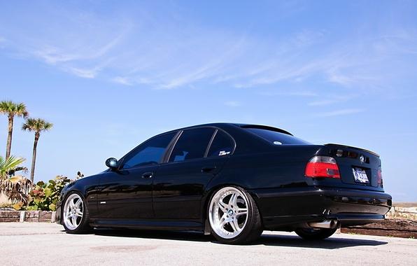 Picture BMW, Sedan, drives, Black, E39