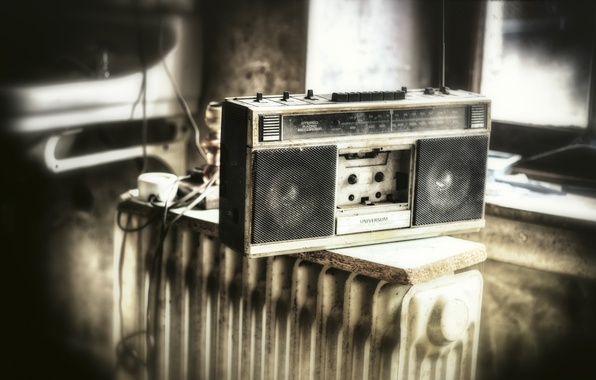 Picture radio, receiver, kazetnik