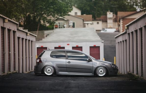 Picture grey, tuning, volkswagen, profile, Golf, golf, Volkswagen, stance, MK5