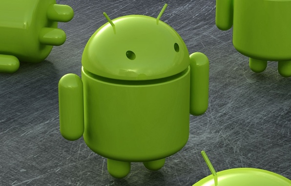 Picture green, robot, Android, android