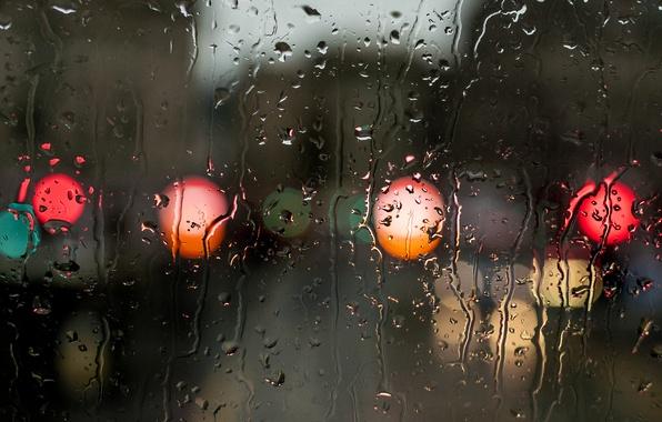 Picture water, drops, surface, rain, color