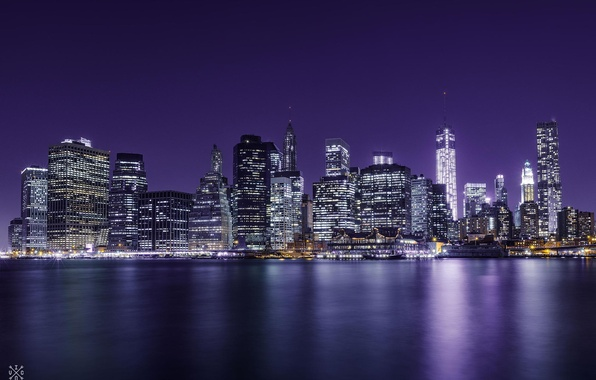 Picture night, the city, view, building, home, New York, skyscrapers, panorama, USA, USA, NYC, New York …