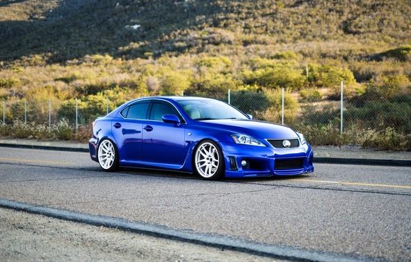 Picture Lexus, road, blue