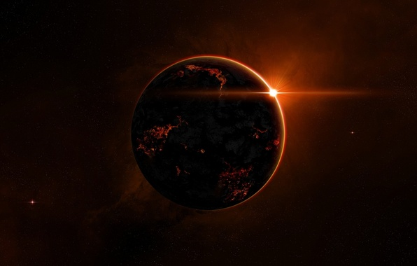 Picture light, red, planet, mysterious