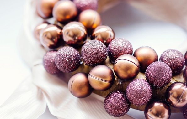 Picture balls, holiday, toys, New Year, Christmas, decoration, the scenery, wreath, Christmas