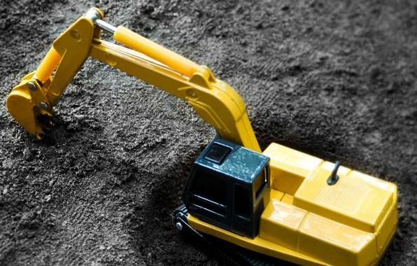 Picture earth, toy, Excavator