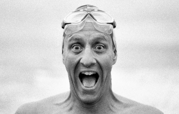 Picture eyes, smile, man, crazy, mouth, diving mask