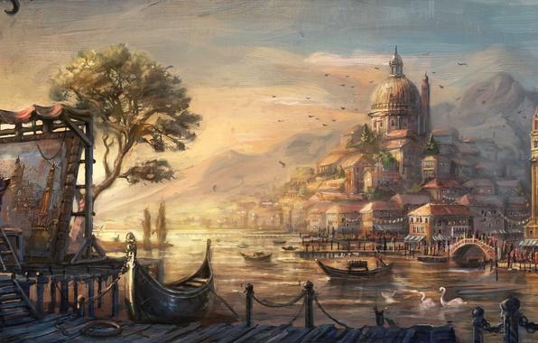 Picture city, lowres, venetian, anno 1404