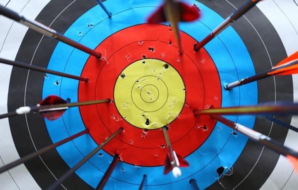Wallpaper arrows, destruction, practice, target shooting, white target,  marksmanship images for desktop, section текстуры - download
