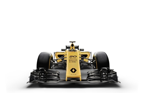 Picture white background, Renault, formula 1, the car, Formula 1, Reno, R.S.16