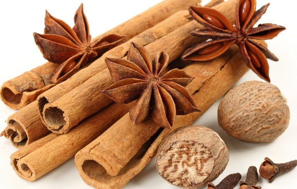 Picture sticks, stars, cinnamon, spices, spices, seasoning, cinnamon, star anise, anise, East, anise star, Spices, fragrant