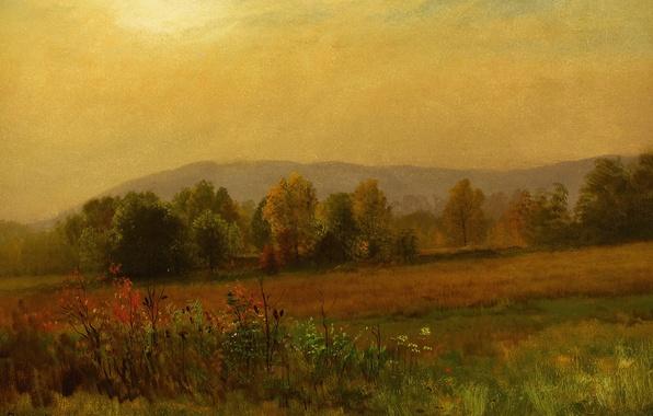 Picture nature, picture, Albert Bierstadt, Autumn Landscape