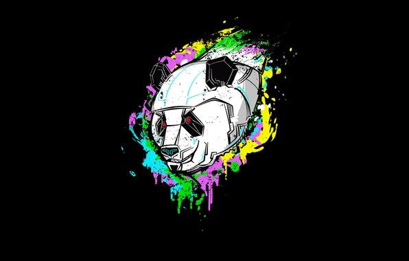 Picture paint, robot, Panda, fur