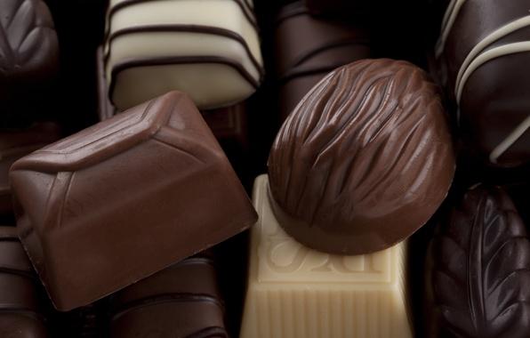 Picture white, dark, chocolate, candy, sweets, dessert, milk