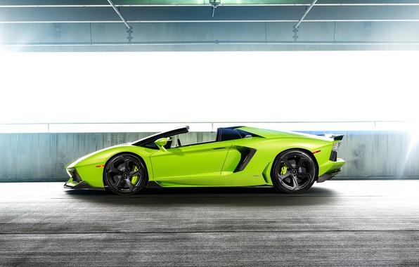 Picture car, green, lamborghini, supercar, tuning, aventador, vorsteiner, aventador, aventador-v, lp-740