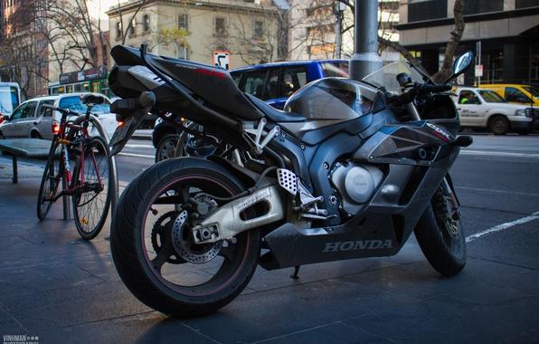 Picture black, street, honda, black, bike, Honda, supersport, cbr, fairplayd, fireblade, Vinhman, 1000rr
