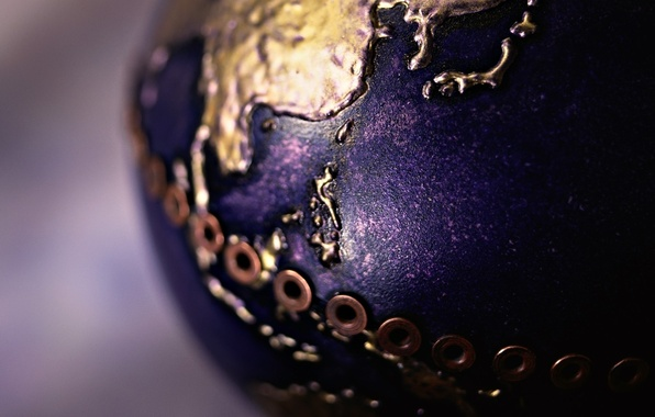 Picture surface, macro, earth, ball, form