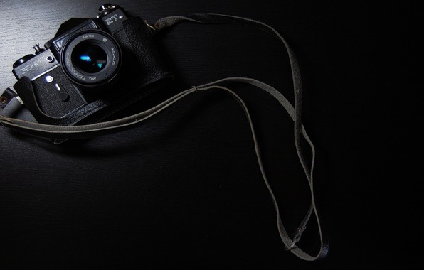 Picture background, black, Zenit, the camera
