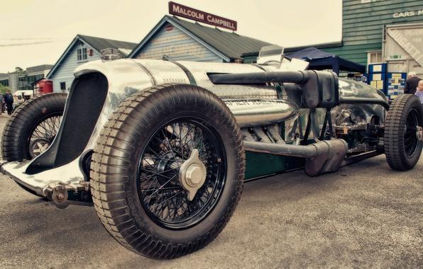 Picture car, vintage, race, classic, brooklands