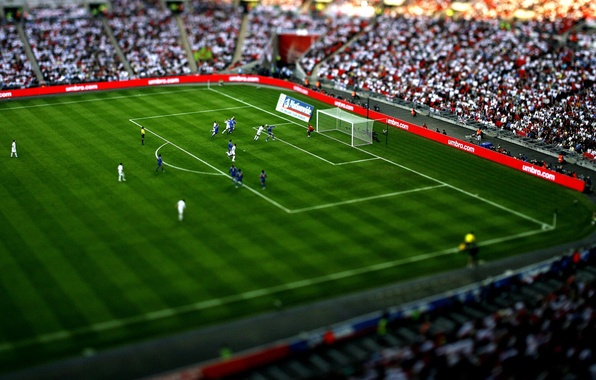 Picture white, grass, blue, game, people, situation, sport, the game, people, the situation, balls, gate, green, …