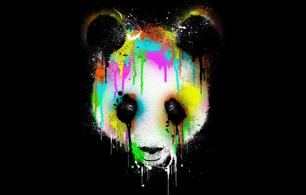 Picture eyes, color, background, abstraction, Panda