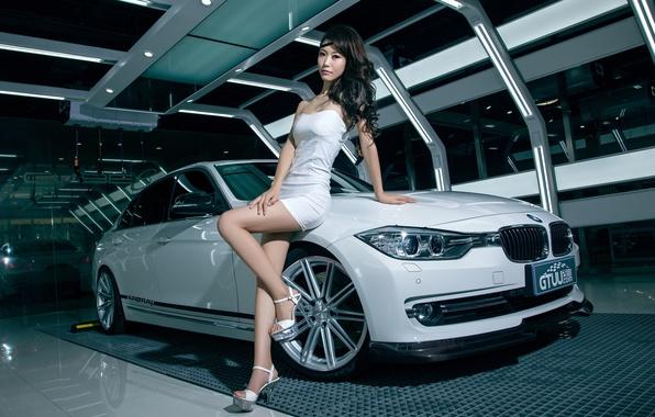 Asian car female model