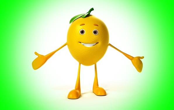 Picture smile, background, lemon, lemon, smile, background