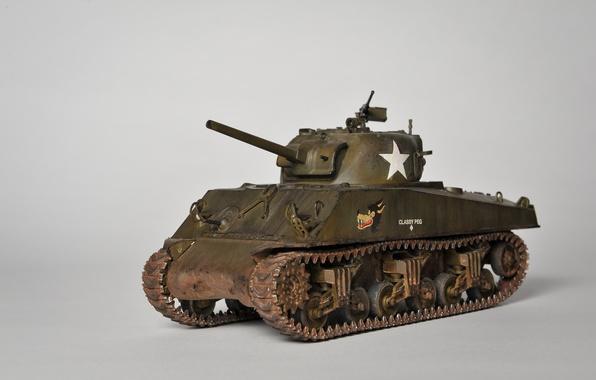 """Picture toy, tank, average, model, """"Sherman"""", M4A3 Sherman"""
