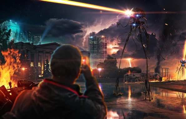 Picture the city, aliens, invasion, Last shot or martians strike back!