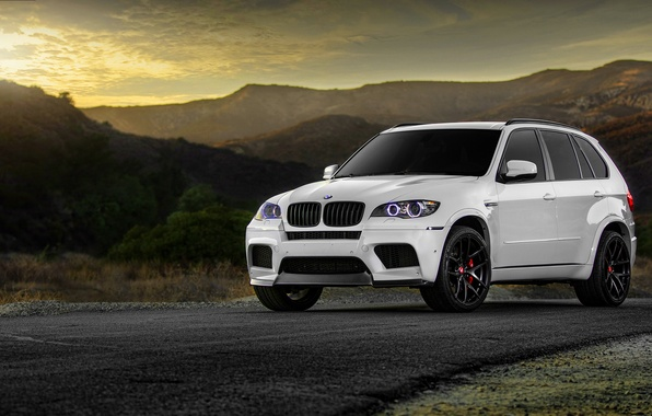 Picture BMW, BMW, white, wheels, tuning, X5M