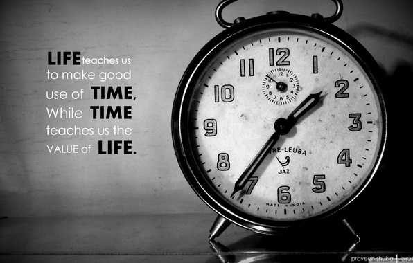 Picture words, time, clock