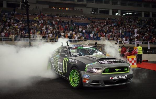 Picture car, Wallpaper, mustang, Mustang, drift, drift, car, ford, Ford, gt500, wallpapers, monster energy, гт500, slide, …