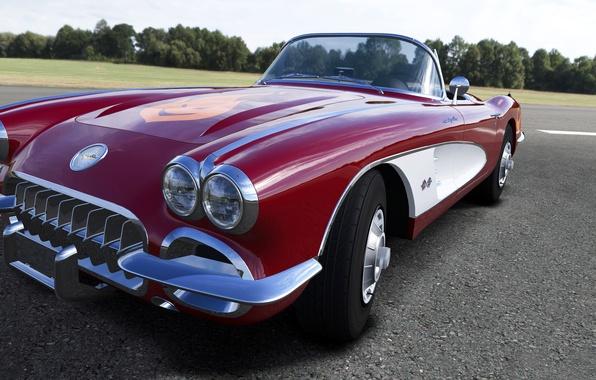 Picture retro, Corvette, Chevrolet, convertible