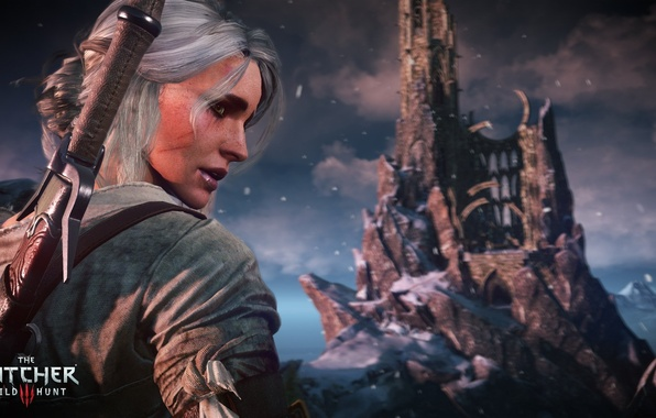 Picture Girl, White, Sword, the witcher 3 wild hunt, The Witcher 3 wild hunt, CRIS